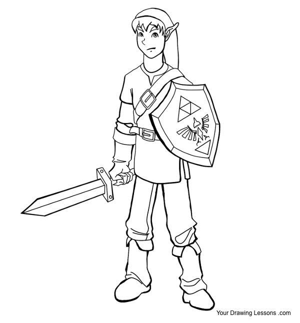 Link Zelda Drawing by MattLeyva on DeviantArt