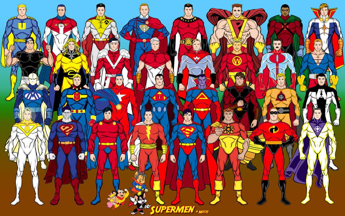 Supermen (Superman analogues) by Eldacur
