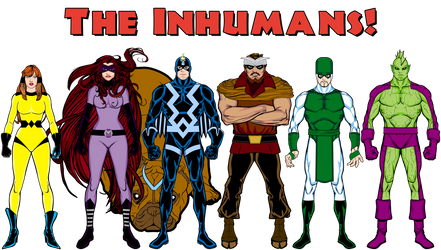 Black Bolt + The Inhumans by Eldacur