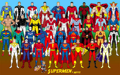 Supermen + Mice (Superman analogues) by Eldacur
