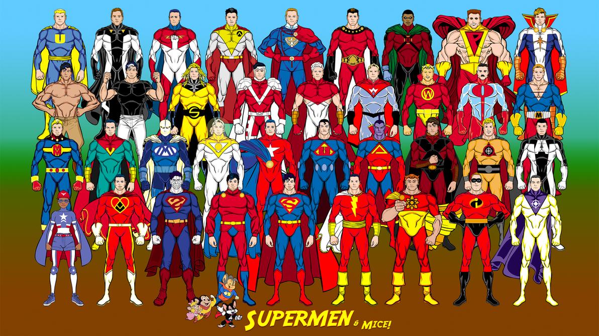 Supermen + Mice (Superman analogues, yet again) by Eldacur