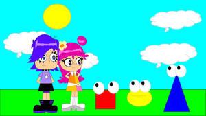circle and friends meets ami and yumi