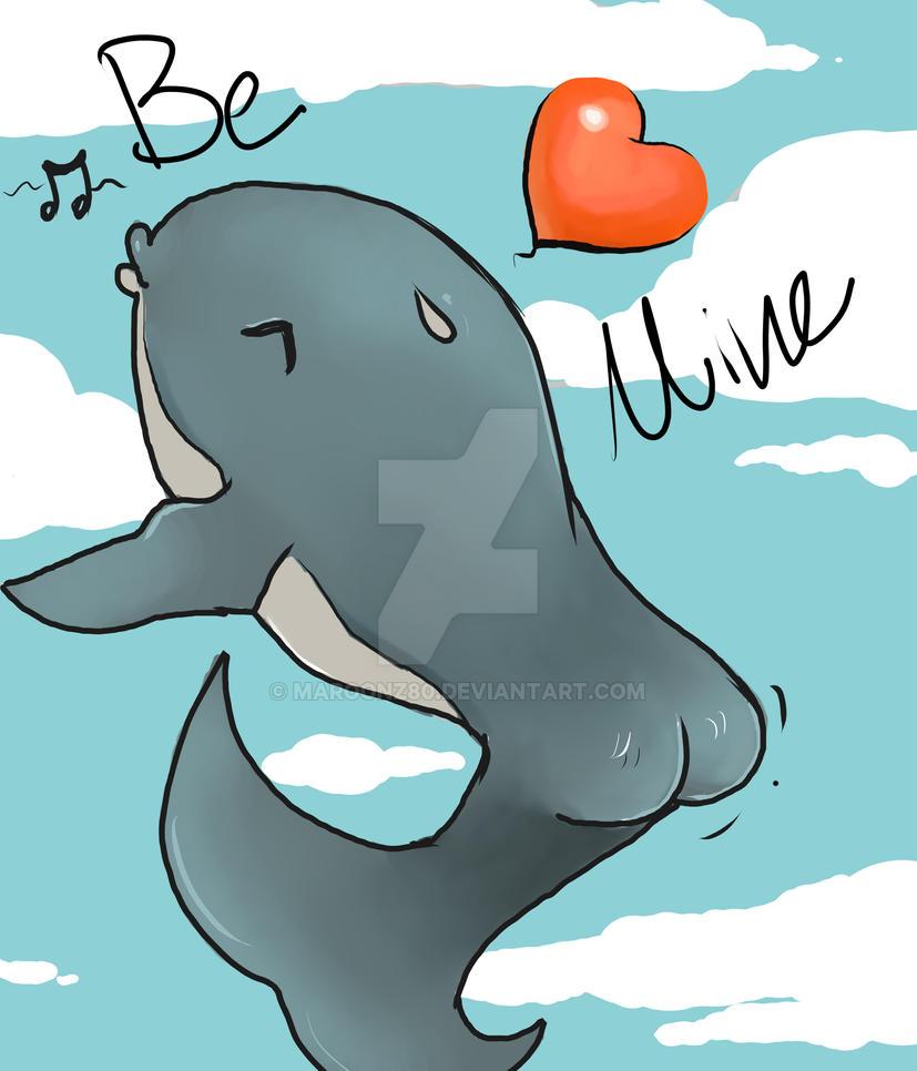 Bootay Sky whale bump valentine by Maroonz80
