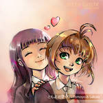 Tomoyo and Sakura by Lazcht