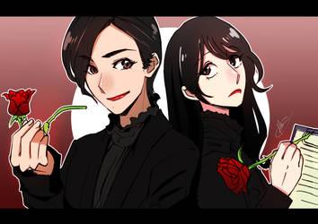 Miss Sherlock and Wato Tachibana by HanningCathan