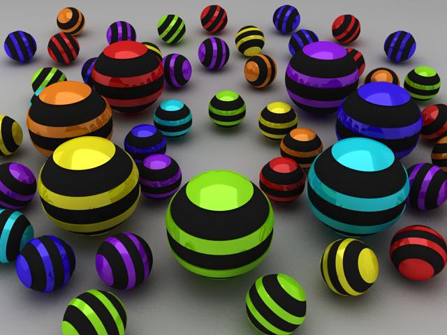 rainbow in balls by dragon2525
