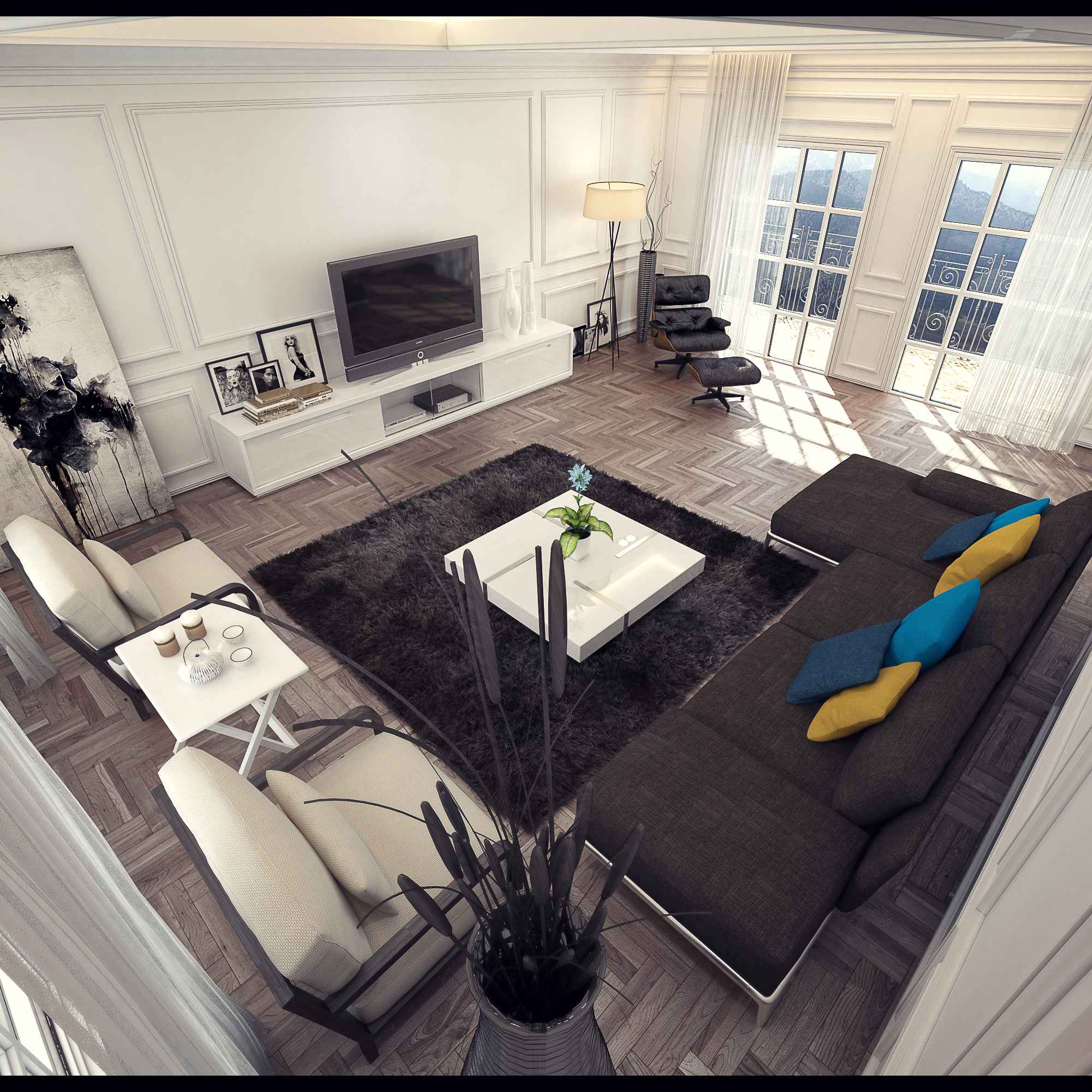 Classical Living Room By Dragon2525 On DeviantArt