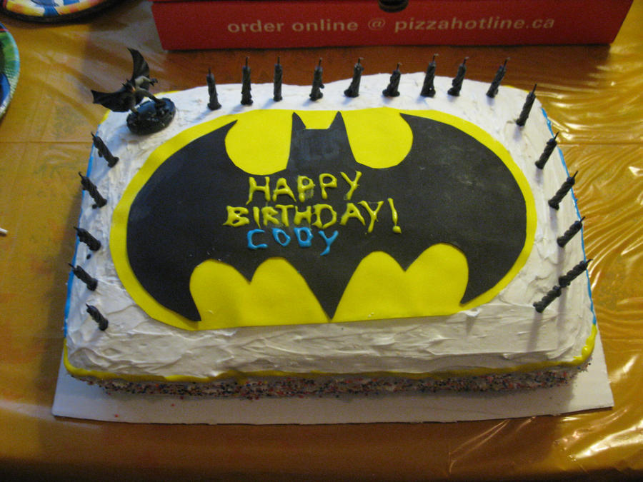 Batman birthday cake by EmoHikaruChan on DeviantArt