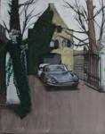 Painting Citroen DS Leeuwarden