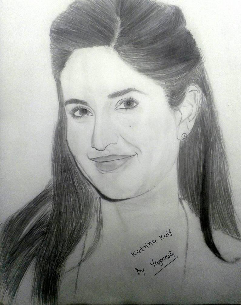 Sketch of katrina kaif by yagnesh128