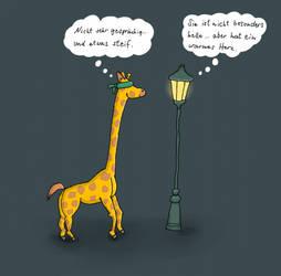 Blind date: Giraffe und Laterne by Faldrian