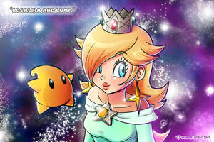 Rosalina and Luma by LinkerLuis