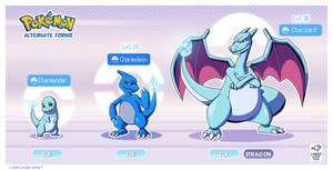 Pokemon Alternate forms - Ice Charmander by LinkerLuis