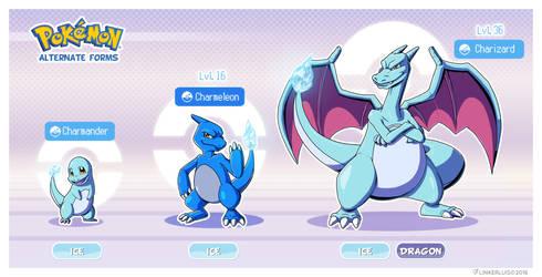 Pokemon Alternate forms - Ice Charmander