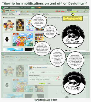 How to turn notifications on and off on Deviantart by LinkerLuis