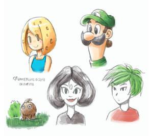 Pencil doodles 4/4/18