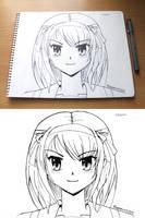 Haruhi portrait by LinkerLuis