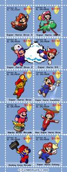 (2013) Super Mario mail stamps