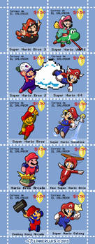 (2013) Super Mario mail stamps by LinkerLuis