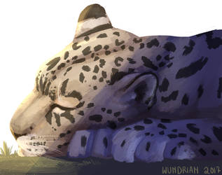 Daily Sketch #11 - Snow Leopard by Wundrian