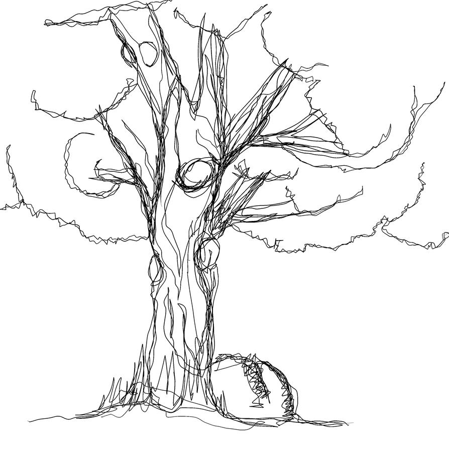 Line Art Tree : A tree in one line by sirferrick on deviantart