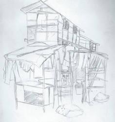 Slums in pencil