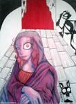 Mona the Jhonen-styled Lisa (Jhonen Vasquez inspi) by MistressBambola