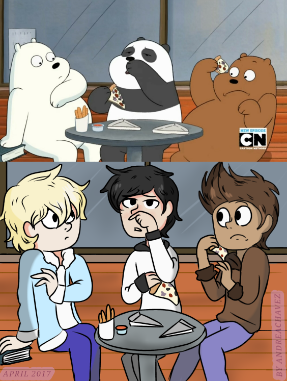 We bare bears- panda's sneeze by AndreaChavez