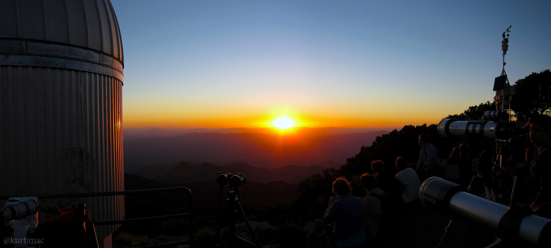 Sunset at Kitt Peak during the Transit of Venus by kurtjmac