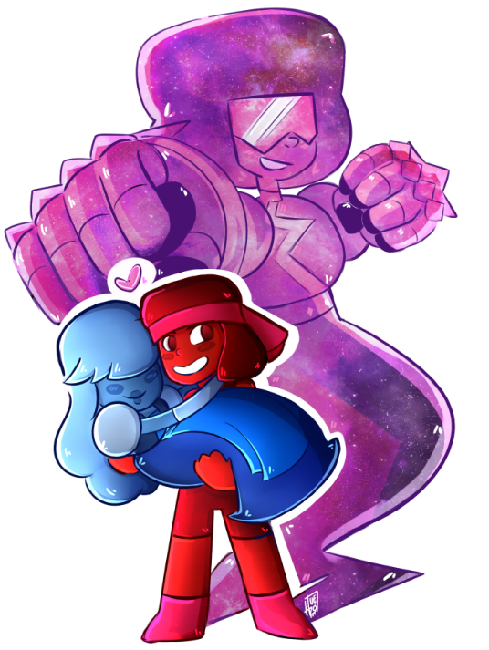 I draw this when Jailbreak came out  I still can believe this<3 ruby and sapphire are too cuteeeeee (sapphire is my birthstone ) and the sooooooong omg I love the voice of Garneeeet <3&n...