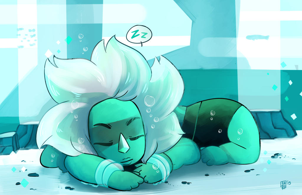 This fusion is so beutiful <3 I love the colors it is a cool fusion :3 gif malachite sleeping here