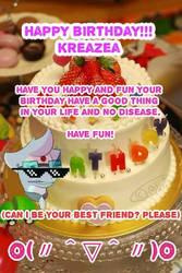 Happy birthday Kreazea by AO-2-NICK