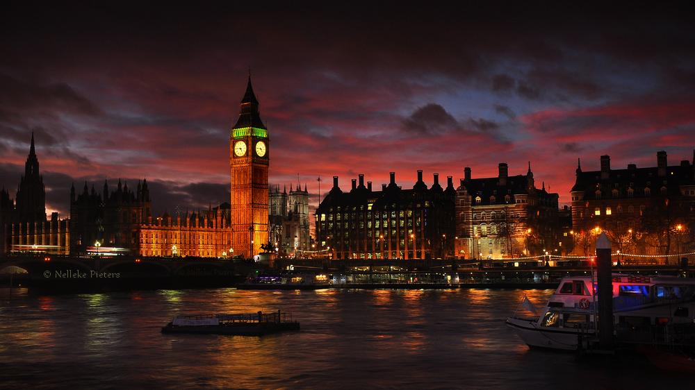 London Twilight by Nelleke