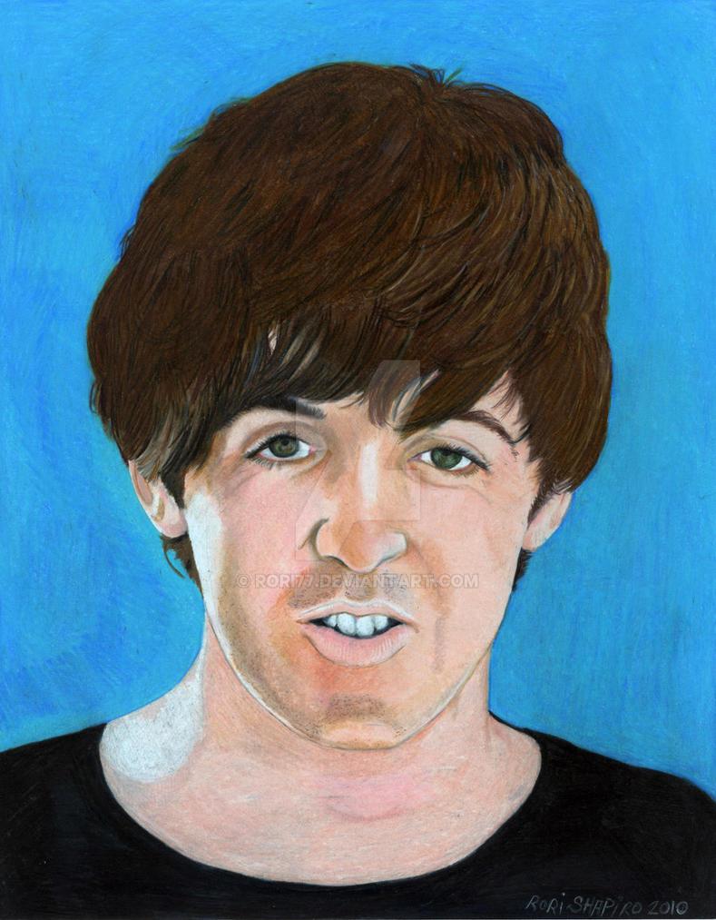 Paul McCartney Blue Help Prisma Colored Pencil