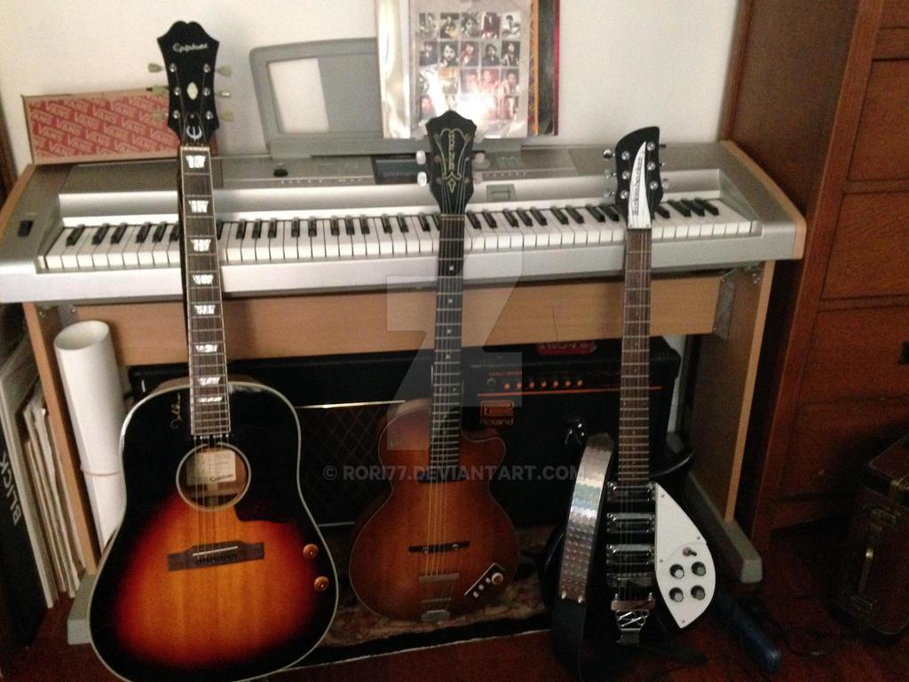John Lennon Guitar Collection by rori77