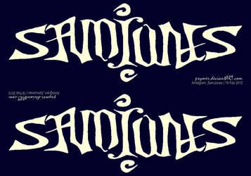 Ambigram_SamJones