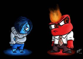 Sadness and Anger (Inside Out) by Zistheone
