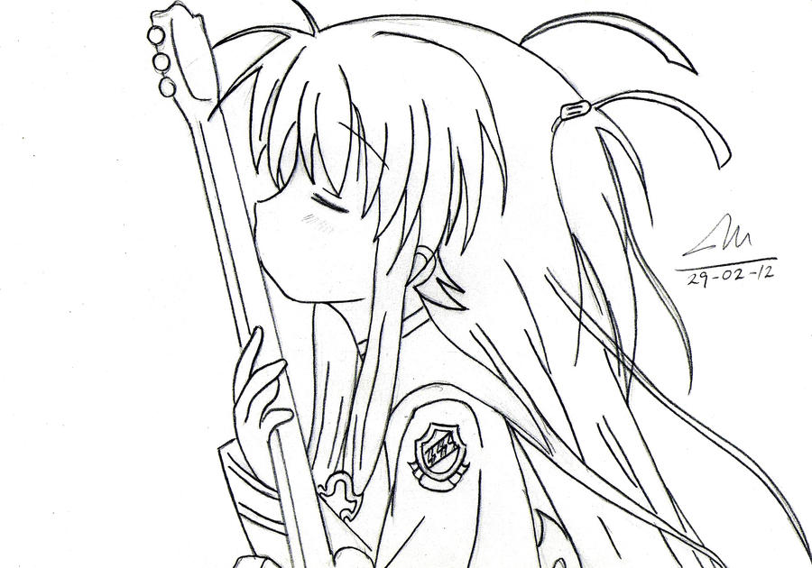 Dorable Lindo Anime Angel Para Colorear Viñeta - Dibujos Para ...