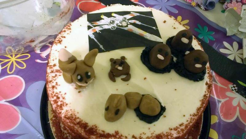 Pokemon and Star Wars Cake by PenguinsPlunder