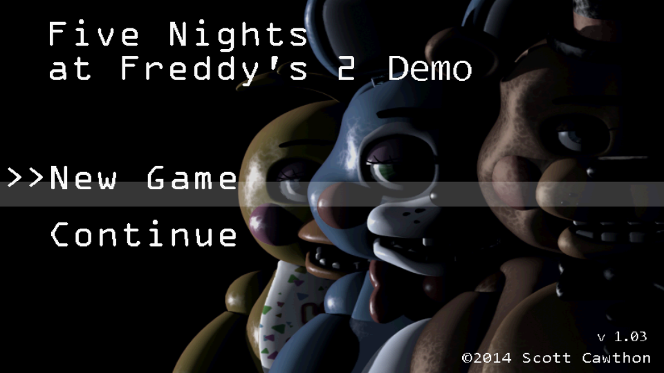 Five nights at freddy s 2 demo menu by cilandpfangirl on deviantart