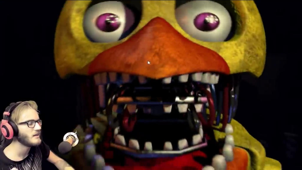 Fnaf toy chica jumpscare moving chica jumpscare in fnaf 2 by