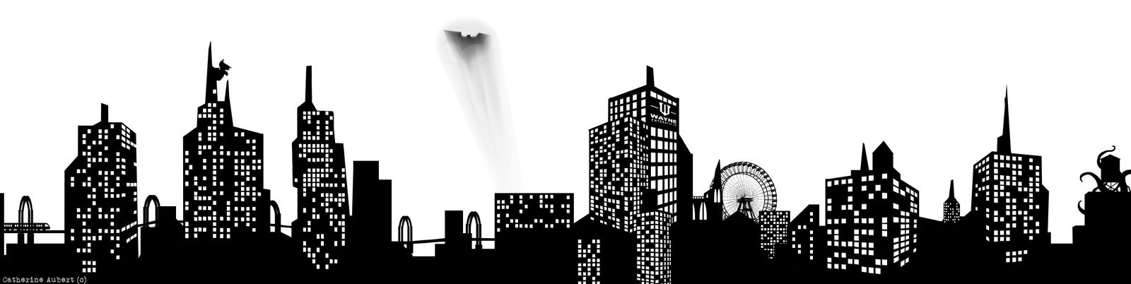 pictures of gotham city skyline clip art rock cafe