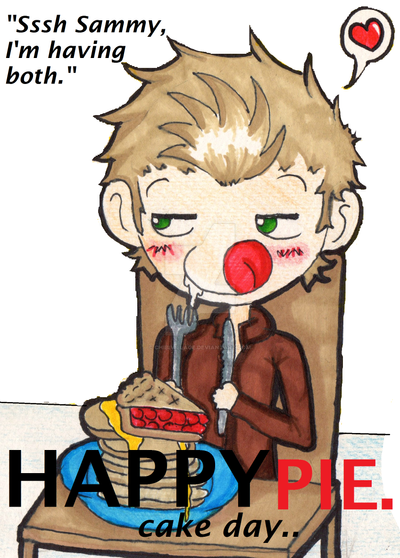 Happy PIE cake day from Dean Winchester by ChibiVillage