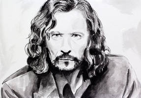 Sirius Black - Watercolor by uncleBING0