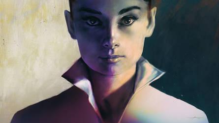 Audrey Hepburn by JBarrero