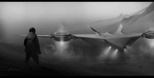 Sci-fi landing