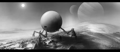 sci-fi exploration probe by JBarrero