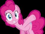 Pinkie Pie Raising a Hoof vector