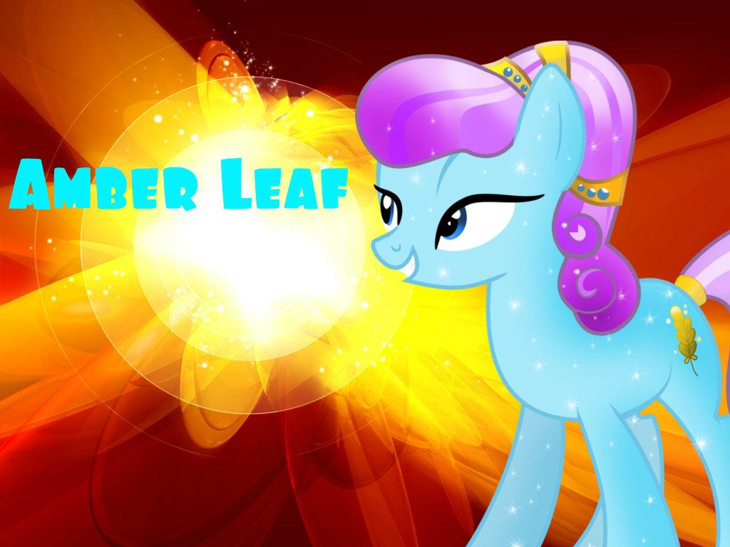 Crystal pony amber leaf poster by eileenmh123 on deviantart for Amber leaf