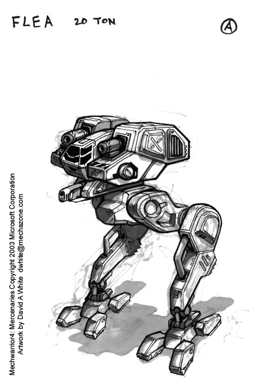 MechWarrior 4 Flea by Mecha-Zone